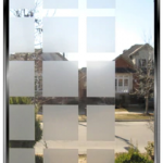 """Geometric 1.75"""" Frosted Squares - DIY Decorative Privacy Window Film"""