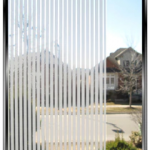 """48"""" Wide Geometric 1/8th Inch Frost Stripes"""