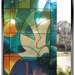 Stained Glass - Doves - DIY Decorative Privacy Window Film